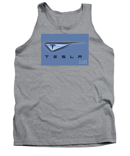 Tesla Model S Tank Top by David Millenheft