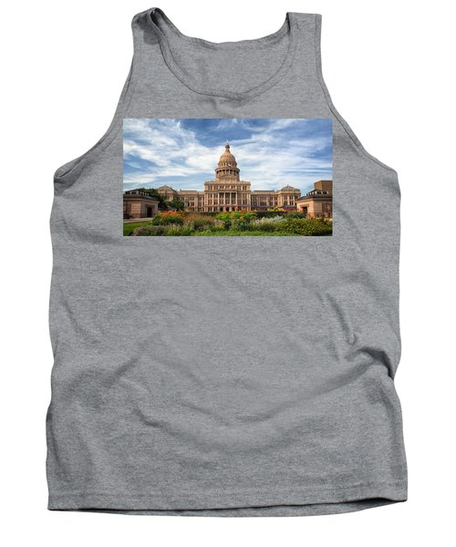 Tank Top featuring the photograph Texas State Capitol II by Joan Carroll