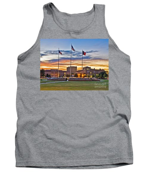 Tank Top featuring the photograph Memorial Circle At Sunset by Mae Wertz