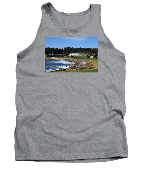 The 18th At Pebble Beach Tank Top by Barbara Snyder