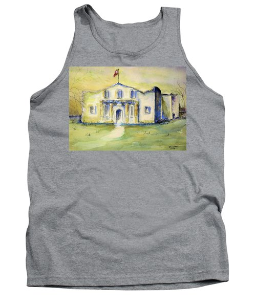 Tank Top featuring the painting The Alamo  by Bernadette Krupa