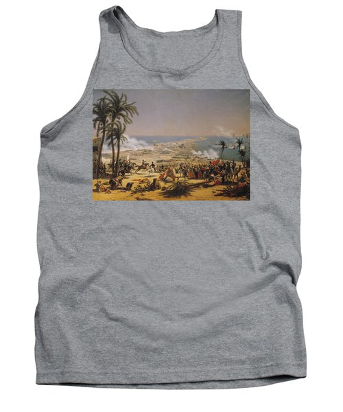 The Battle Of Aboukir, 25th July 1799 Oil On Canvas Tank Top