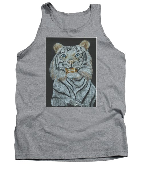 Tank Top featuring the pastel The Bengal by Carol Wisniewski