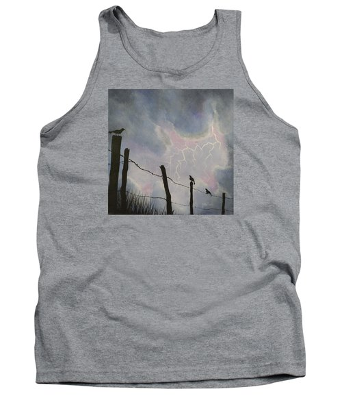 The Birds - Watching The Show Tank Top by Jack Malloch