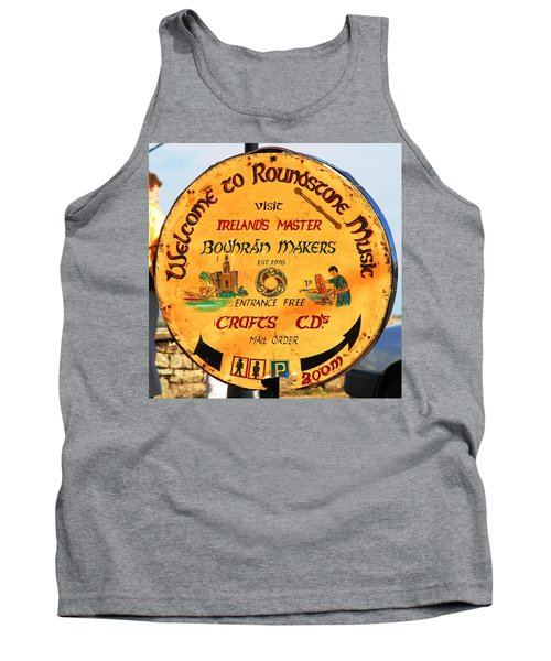 The Bodhran Makers Tank Top by Charlie and Norma Brock