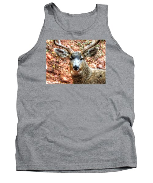 Tank Top featuring the photograph The Buck I by Lanita Williams