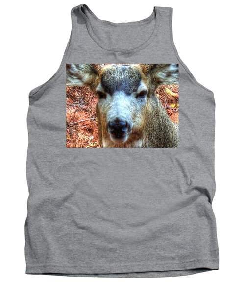 Tank Top featuring the photograph The Buck II by Lanita Williams