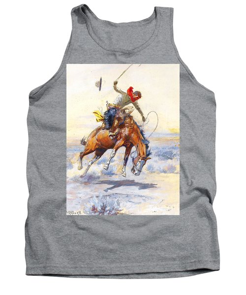 The Bucker By Charles M Russell Tank Top by Pg Reproductions