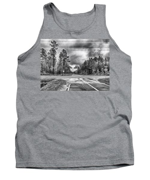Tank Top featuring the photograph The Crossroads by Howard Salmon