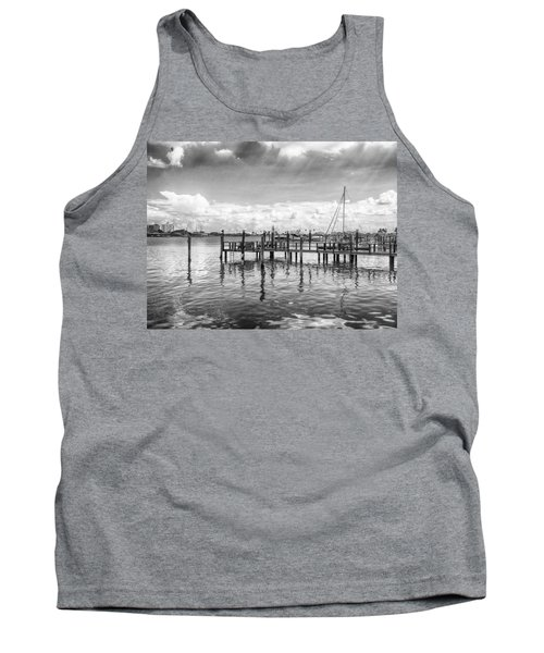 Tank Top featuring the photograph The Dock by Howard Salmon