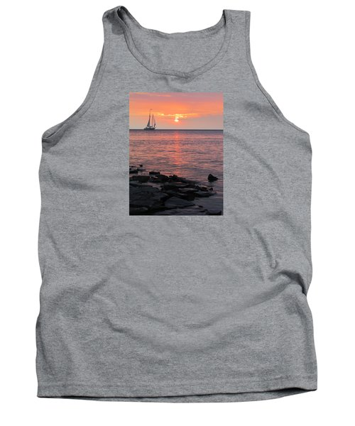 The Edith Becker Sunset Cruise Tank Top by David T Wilkinson
