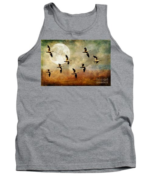 The Flight Of The Snow Geese Tank Top by Lois Bryan