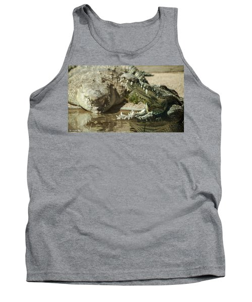 Tank Top featuring the photograph The Fool Crocodile by Stwayne Keubrick