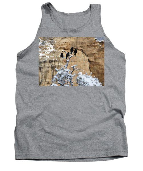 Tank Top featuring the photograph The Four Crows by Laurel Powell