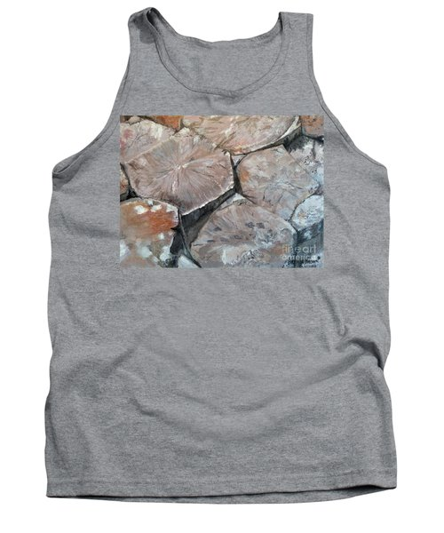 Tank Top featuring the painting The Giant's Causeway by Brenda Brown