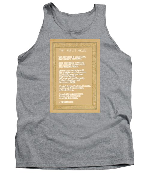 The Guest House Poem By Rumi Tank Top by Celestial Images