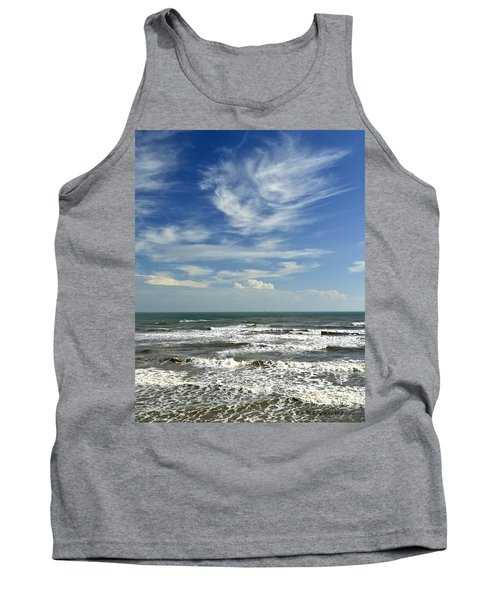 The Gulf Of Mexico From Galveston Tank Top