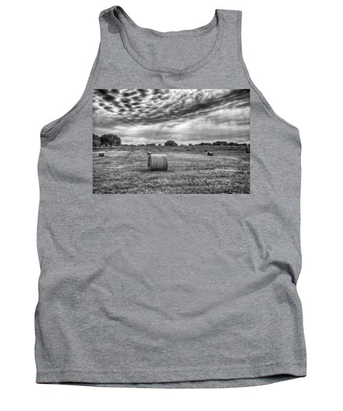 Tank Top featuring the photograph The Hay Bails by Howard Salmon