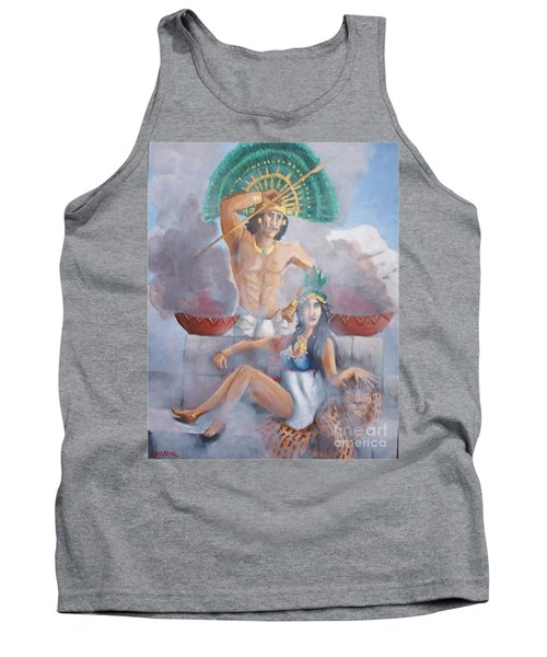 The Huey Tlatoni Or Emperor And Wife Tank Top