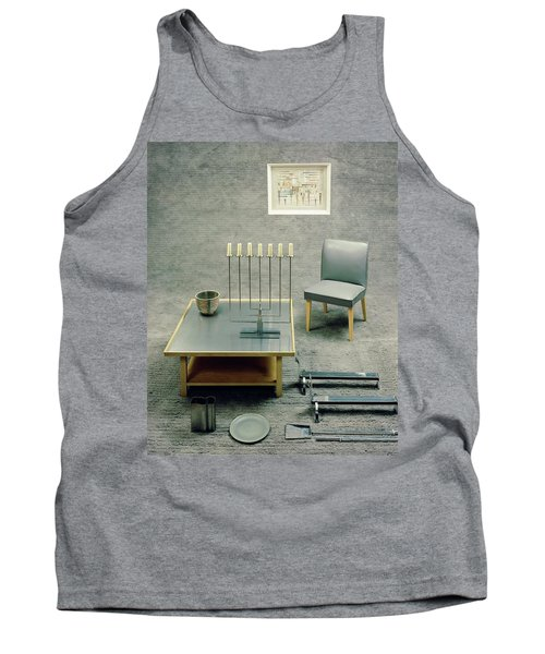 The Interior Design Of A Gray Living Room Tank Top