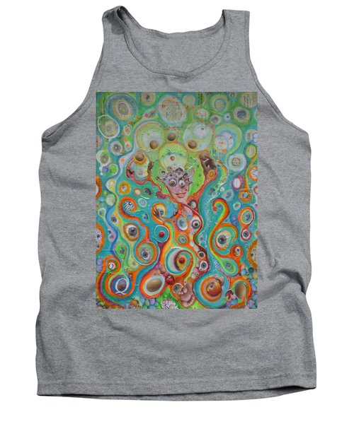 Tank Top featuring the mixed media The Juggler Of Junkadelphia by Douglas Fromm