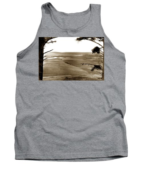 The Lagoon At The Mouth Of The Carmel River  From Fish Ranch California 1905 Tank Top