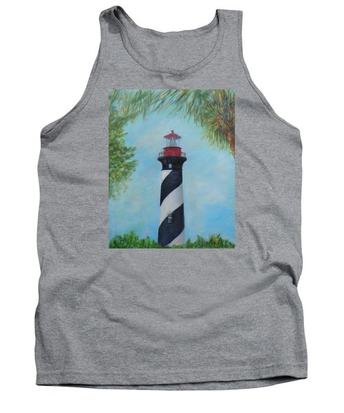The Lighthouse In St. Augustine Florida Tank Top
