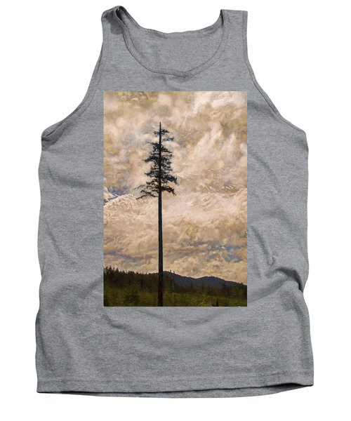 The Lone Survivor Stands In Tranquility Tank Top by Peggy Collins
