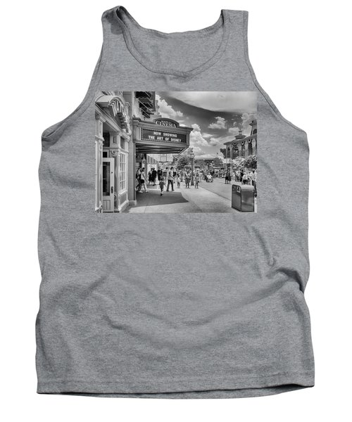 Tank Top featuring the photograph The Main Street Cinema by Howard Salmon