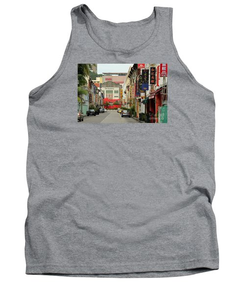 Tank Top featuring the photograph The Majestic Theater Chinatown Singapore by Imran Ahmed