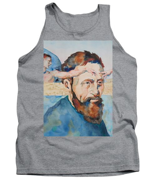 Tank Top featuring the painting The Mind Of Michelangelo by Michele Myers