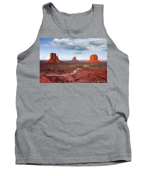 The Mittens And Merrick Butte At Sunset Tank Top by Jeff Goulden