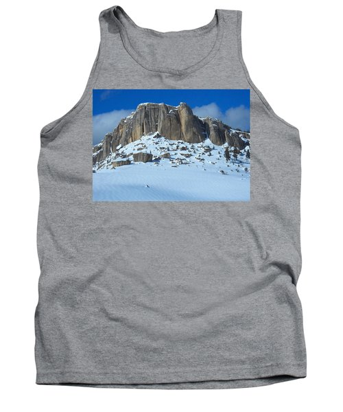Tank Top featuring the photograph The Mountain Citadel by Michele Myers