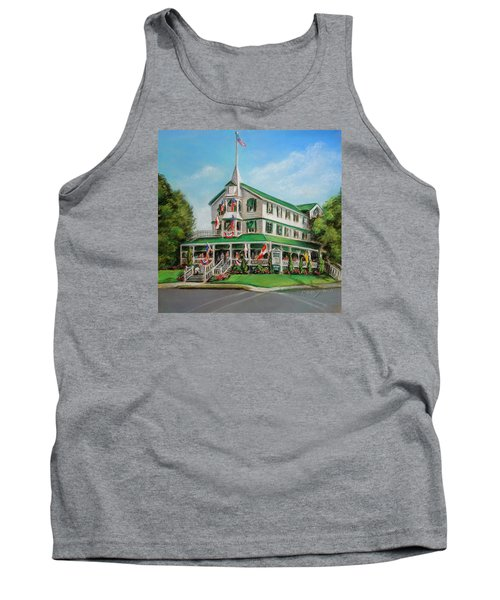 Tank Top featuring the painting The Parker House by Melinda Saminski