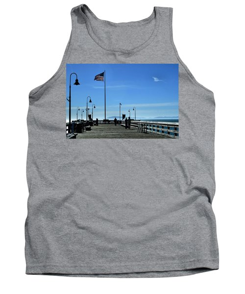 Tank Top featuring the photograph The Pier by Michael Gordon