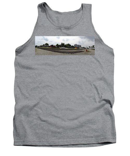 Tank Top featuring the photograph The Railroad From The Series View Of An Old Railroad by Verana Stark