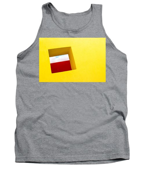 the Red Rectangle Tank Top by Prakash Ghai