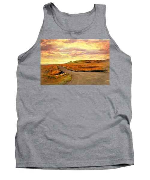 Tank Top featuring the photograph The Road Less Trraveled Sunset by Marty Koch
