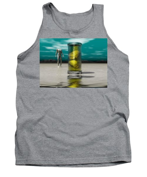 Tank Top featuring the digital art The Time Capsule by John Alexander