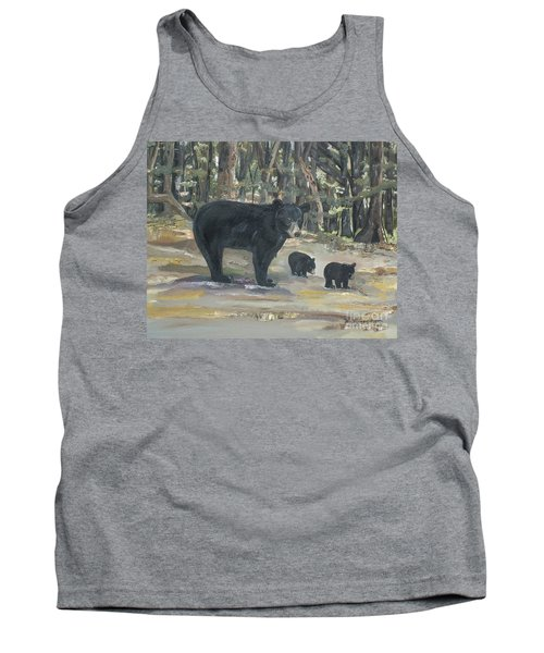 Tank Top featuring the painting Cubs - Bears - Goldilocks And The Three Bears by Jan Dappen