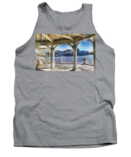The View From The Boardwalk Gazebo Wdw 02 Photo Art Tank Top by Thomas Woolworth