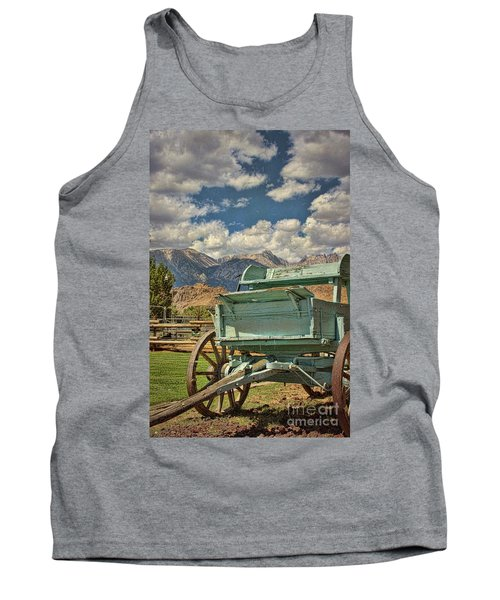 Tank Top featuring the photograph The Wagon by Peggy Hughes