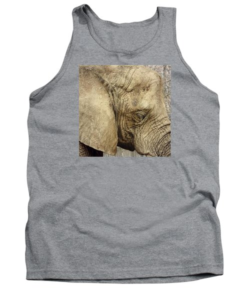 Tank Top featuring the photograph The Wise Old Elephant by Nikki McInnes