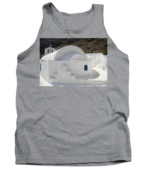 Tank Top featuring the photograph Thirasia Church Santorini Greece by Colette V Hera  Guggenheim