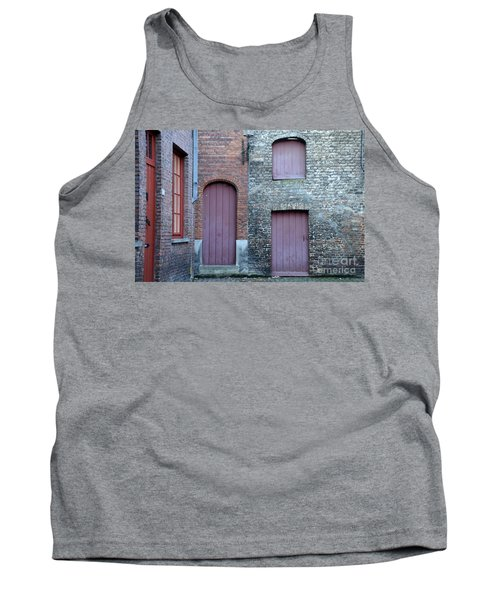 Three Doors And Two Windows Bruges, Belgium Tank Top