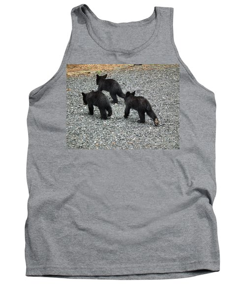 Tank Top featuring the photograph Three Little Bears In Step by Jan Dappen
