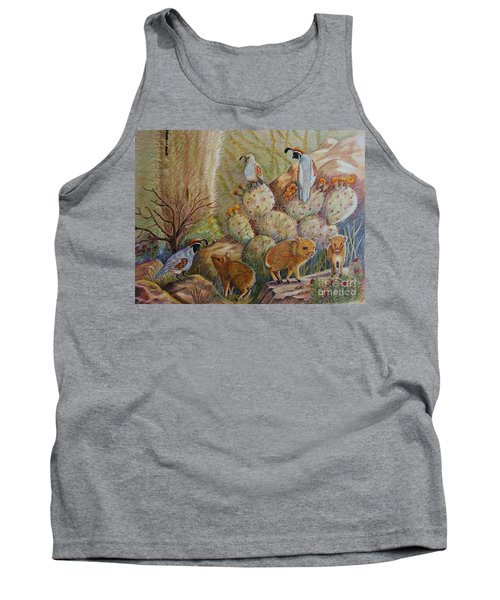 Three Little Javelinas Tank Top by Marilyn Smith