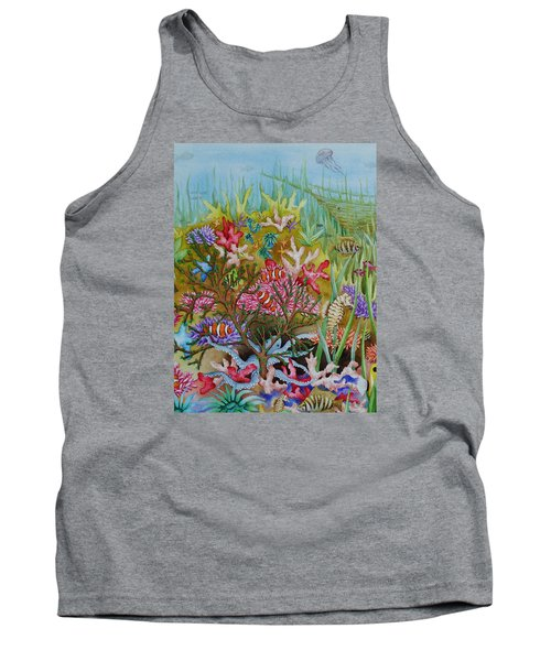 Thriving Ocean -sunken Ship Tank Top by Katherine Young-Beck