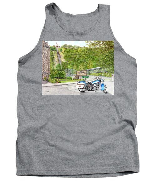 Tank Top featuring the painting Thunder In Johnstown by Albert Puskaric