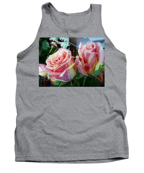 Tie Dye Roses Tank Top